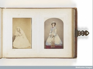 L0076688 Victorian crossdressing. Photograph album, late 19th century Credit: Wellcome Library, London. Wellcome Images Copyrighted work available under Creative Commons Attribution only licence CC BY 4.0 http://creativecommons.org/licenses/by/4.0/